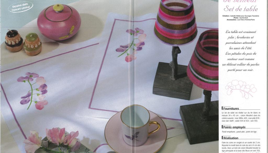 4-rédaction-et-création-set-de-table-pois-de-senteur-pour-Ouvrages-Transferts.